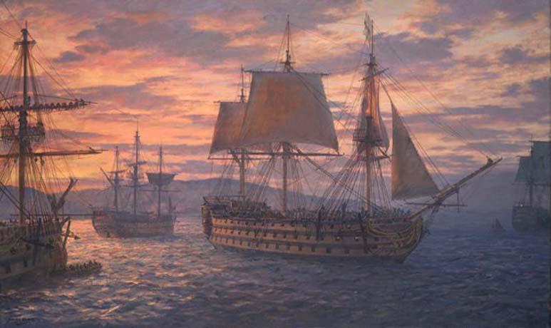19 1 1805 partenza della Victory e della flotta inglese da La Maddalena Geoff Hunt